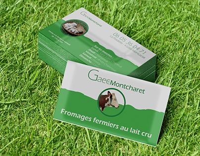 Gaec de Montcharet Business card