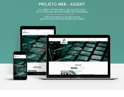 WebSite Coporativo Assert - Corporate WebDesign