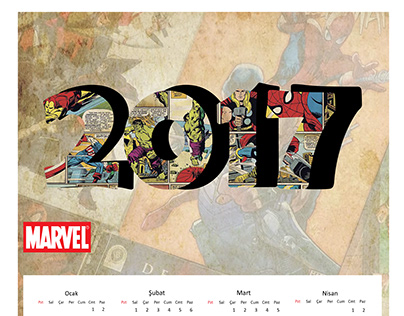 Marvel Calendar Design