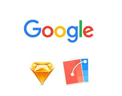 Google App - Made with Sketch & Flinto