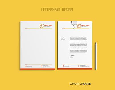 Letterhead Design in Kenya for Crystal Health Solutions
