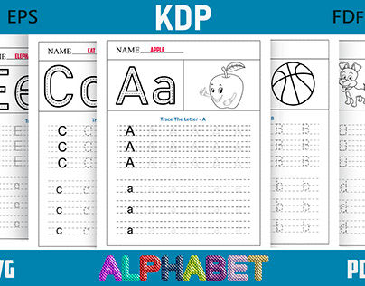 Alphabet Coloring book for Kdp