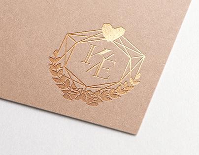 Wedding Design | Initials emblem and wedding invitation