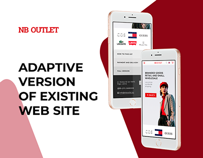 Adaptive version of the online store website