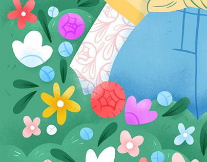 Pause florale