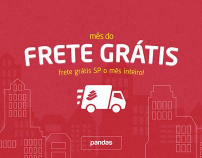 Pandas.com.br   Campanha Frete Grátis