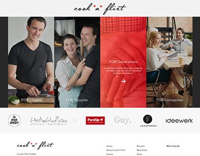 Cook & Flirt - Website - Swiss