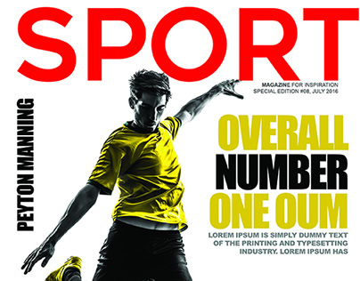 Free Sports Magazine Cover PSD Template