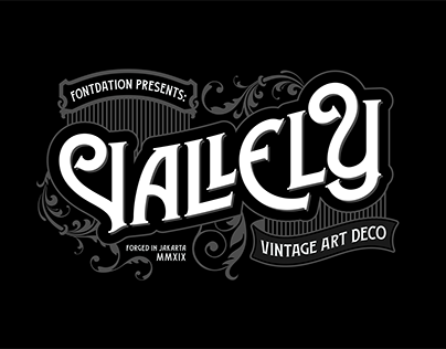 Vallely Typeface