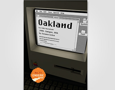 Oakland Typeface Poster