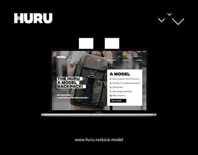 Huru Backpack Model-A Landing-page