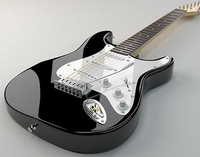 Fender 3D model. Poster