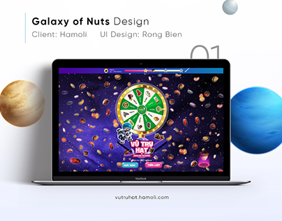 Galaxy of Nuts Minigame UI Design