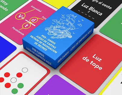 La baraja de cartas para PER