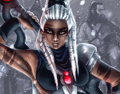 Commander Herja (Illustration for FatalCore TCG)