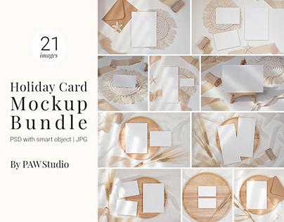 Holiday Card Mockup Bundle