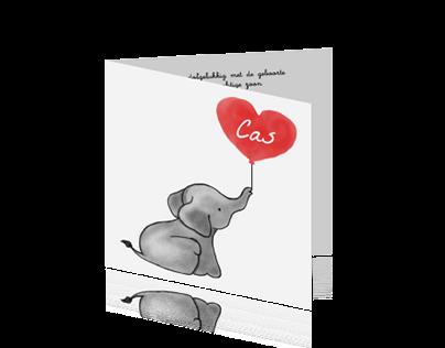 JilleJille || Birth Announcement Cards
