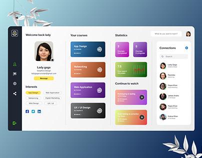 Online Course Profile Ui web App