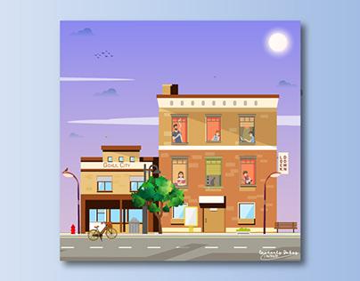 Lockdown Illustration | Digital Painting