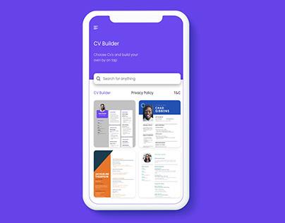 CV Builder UiUx Designed App.