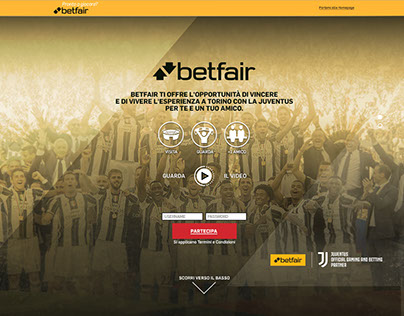 Juventus and Betfair Partnership Microsite