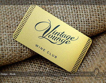Gold Finish Quick Stainless Steel Metal Business Card