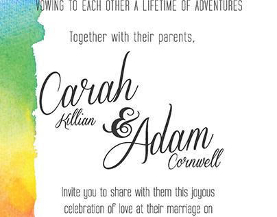 Adam and Carah Wedding Invites