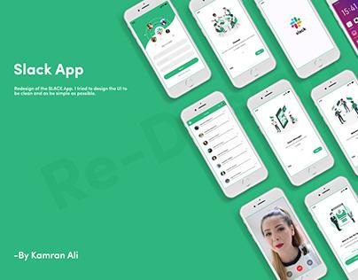 SLACK app Re-Design