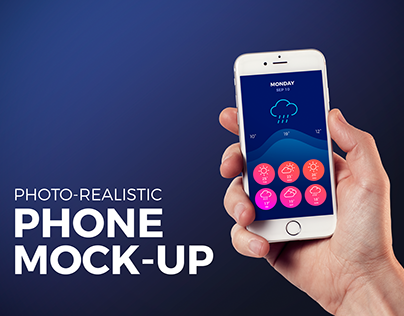 Isolated Phone Mock-up Template PSD
