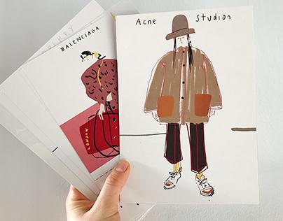Acne Studios fashion illustration