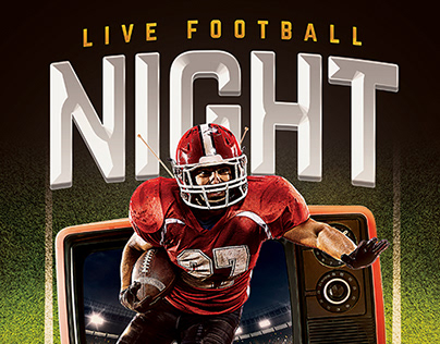 Live Football Flyer Template