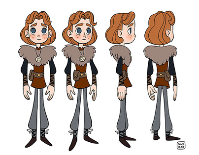 Viking Boy Character