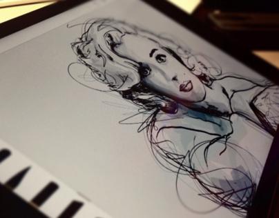Marilyn & Music - AdobeDraw