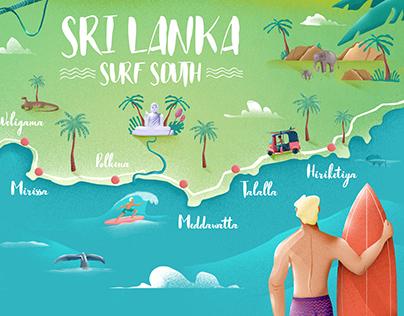 Surf Map Sri Lanka