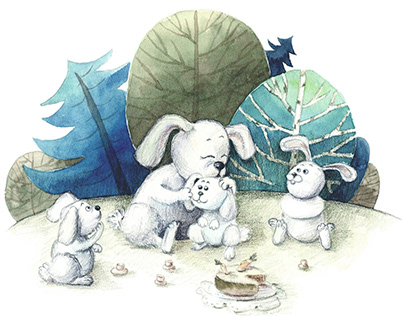 Illustration for the book Grandma's Tales