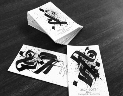 Custom calligraphy business cards