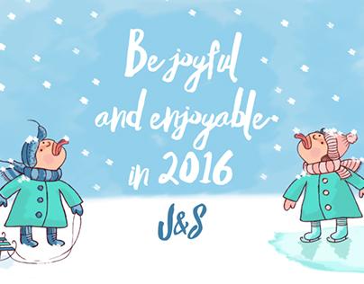 Festive season greeting card