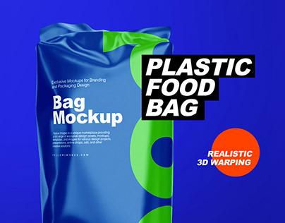 Plastic Food Bag Mockups