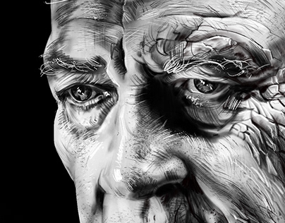 David Lynch Procreate Portrait