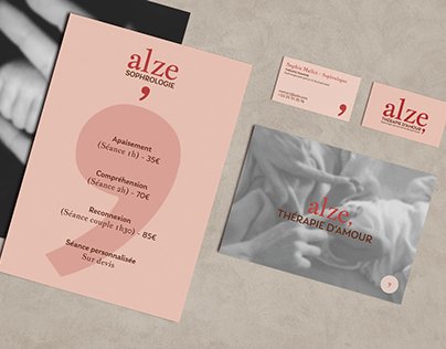 Alze, Thérapie d'amour - Brand identity