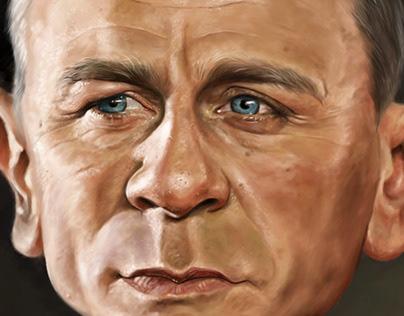Daniel Craig - James Bond caricature