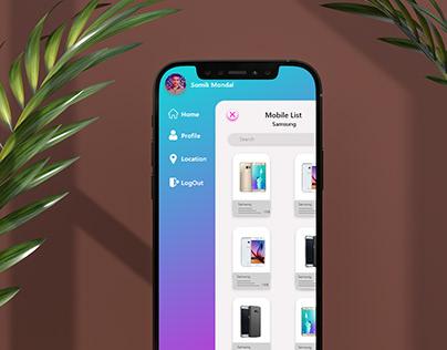 Hover and Slide Menu (UI Design)