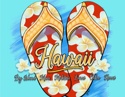 Hawaiian Style Slippers