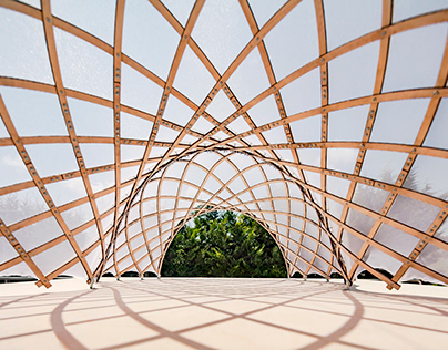 Two way Geodesic gridshell