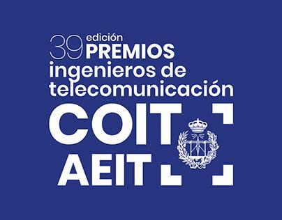 Diseño para 39 edición de los Premios COIT - AEIT