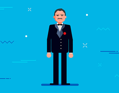 "Illustration for animated movie ""Otkritie Bank"""
