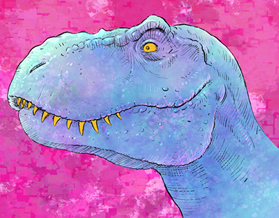 Fresco Tyrannosaurus