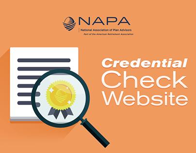 NAPA Credential Online Database
