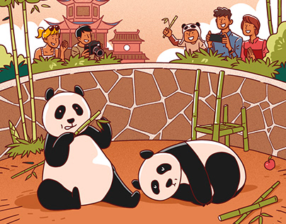 Illustrations for monocle Chengdu Charm