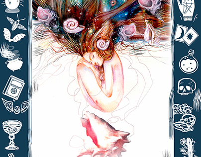 Card from the Tarot deck of 9 cups
